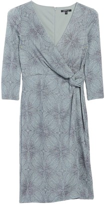 Marina Surplice Neck Wrap Dress