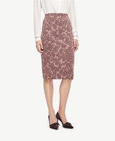 Ann Taylor Petite Shimmer Leaf Pencil Skirt