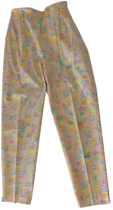 Marella Multicolour Cotton Trousers for Women Vintage