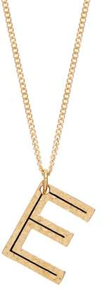 Burberry Hammered E-charm Gold-plated Necklace - Womens - Gold