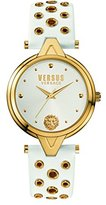 Versus By Versace Women's 'V eyelets' Quartz Stainless Steel and Leather Casual Watch, Color:White (Model: SCI040016)