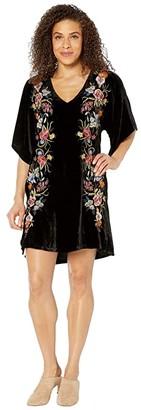 Johnny Was Isla Velvet Kimono Dress (Black) Women's Clothing