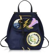 Marc Jacobs Blue Trooper Embellished Nylon Zip Backpack
