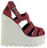 Jeffrey Campbell Womens JD0242 Wedged Summer Casual Platform Shoes Sandals