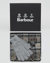 Barbour Scarf & Gloves Gift Box