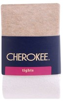 Cherokee Toddler Girls' Color Block Tights Cream