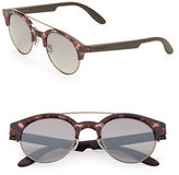 Carrera 53mm Turtoise Shell Aviator Sunglasses