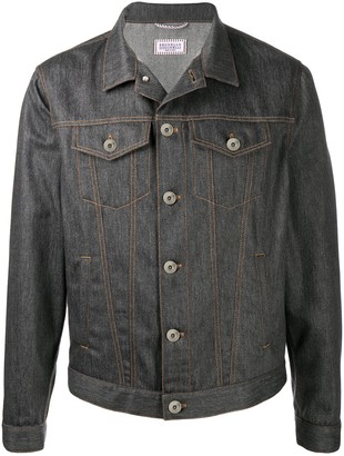 Brunello Cucinelli Charcoal Grey Denim Jacket