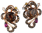 LeVian Smoky Quartz and Multi Stone Earrings in 14K Rose Gold