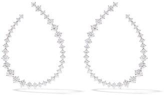 As 29 18k white gold diamond Swing large hoop earrings