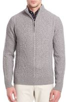 Saks Fifth Avenue COLLECTION Cashmere Braided Sweater