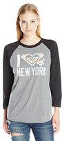 Roxy Women's Love Paradise New York 3/4 Sleeve Tee