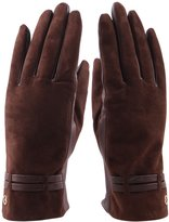 Venusfur Women's Soft Suede & Nappa Leather Gloves