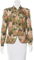 Brioni Structured Leaf Print Jacket