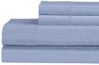 Ella Jayne Heathered 120-GSM Cotton-Blend 4-Piece Bedding Set
