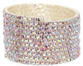 Natasha Accessories Crystal Coil Bracelet