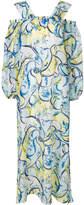 Emilio Pucci cold-shoulder printed maxi dress
