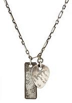 Werkstatt:Munchen Men's Pick & Dog-Tag Pendant Necklace-SILVER