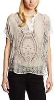 Daniel Hechter Women's Loose Fit Short Sleeve Blouse - White -