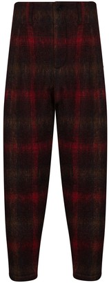 Nicholas Daley Check Pattern Relaxed Fit Trousers