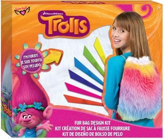 Fashion Angels Dreamworks Trolls Faux-Fur Drawstring Bag Design Kit