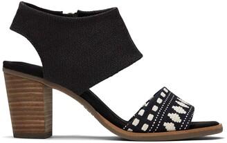 Toms Black Global Woven Majorca Sandal