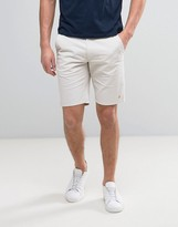 Farah Hawk Straight Chino Shorts In Light Grey