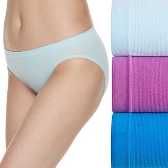 Fruit of the Loom Women's Signature 3-pack Breathable Seamless Bikini Panties-3DBSBIK