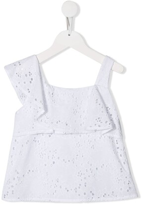 Lapin House Asymmtric Embroidered Top
