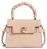 Miu Miu Madras Leather Top Handle Satchel - Orange