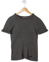 Burberry Girls' Wool & Silk Short Sleeve Top