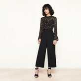 Maje Wide 7/8-length trousers