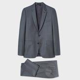 Paul Smith Men's Tailored-Fit Dark Grey Birdseye Wool Suit