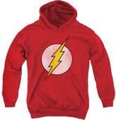 2Bhip DC Comics Flash Logo Distressed Superhero Big Boys Pull-Over Hoodie