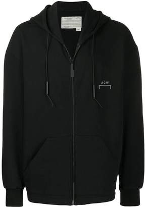 A-Cold-Wall* chest logo zip hoodie