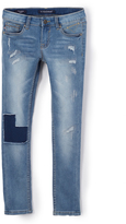 Vigoss Blue Patch Denim Skinny Jeans - Girls