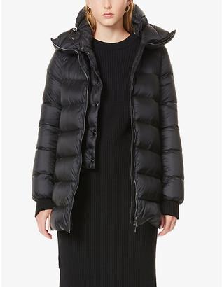 Moncler Ange detachable double-layer shell-down coat
