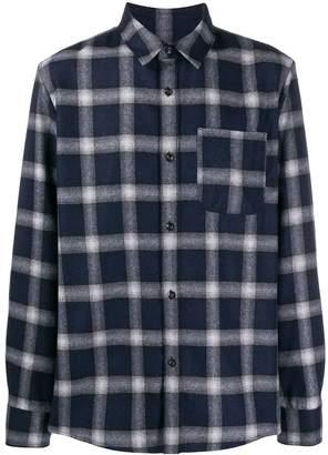 A.P.C. checked wool blend shirt