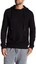 Velvet by Graham & Spencer Long Sleeve Ribbed Trim Hooded Sweatshirt