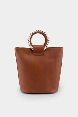 francesca's Scilla Circle Handle Bucket Bag - Cognac