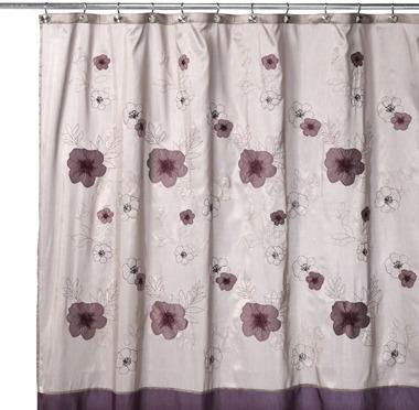 "B. Smith Purple Bloom 72"" x 72"" Shower Curtain"