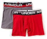 Under Armour Little/Big Boys 4-20 2-Pack Solid Cotton Boxer Briefs