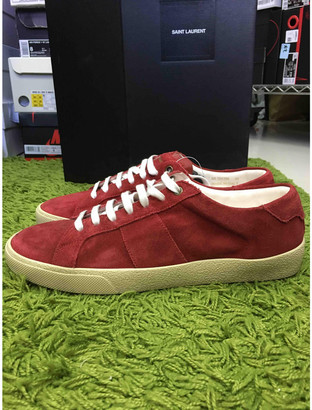 Saint Laurent SL/06 Red Suede Trainers