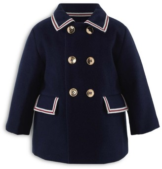 Rachel Riley Striped-Trim Heritage Double-Breasted Coat (6-24 Months)