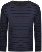 Nudie Jeans Orvar Striped T Shirt Navy