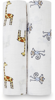 Aden Anais 47'' x 47'' Jungle Jam Classic Swaddle Blanket - Set of Two