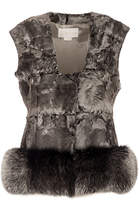 Genny Nickel Fur Vest