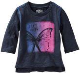 Osh Kosh Toddler Girl 3/4-Length Sleeve Inspirational Quote Tee