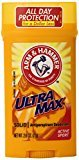 Arm & Hammer Ultra Max Invisible Solid Wide Stick, Antiperspirant Deodorant, Active Sport, 2.6 oz (Pack of 6)