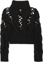 MM6 MAISON MARGIELA Open cable-knit wool sweater